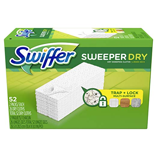 Swiffer Sweeper Dry Mop Refills For Floor Mopping And Cleaning